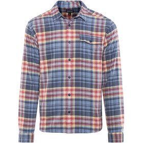 Patagonia Fjord Lightweight LS Flannel Shirt Men Rootsy: Railroad Blue